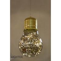 LED Пендел BULB II 5W +2.7W 3000K Ф150mm стъкло Lightex