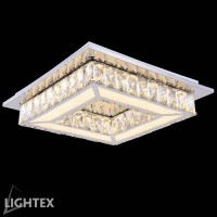 LED полилей ALICE 20W 4000K 400x400мм стомана+кристал Lightex