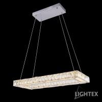 LED полилей ALICE 32W 4000K 700x300мм стомана+кристал Lightex
