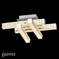 LED полилей ALINA 40W 4000K 520x520мм стомана+кристал Lightex