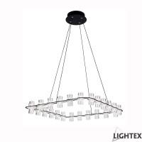 LED полилей ANTONIA висящ 96W 3200K 620x620x1200мм черен Lightex