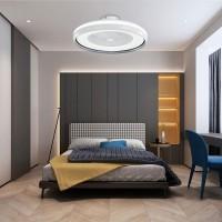 LED вентилатор с дистанционно 37W+33W 220V 3000K/4500K/6500K бял Ф600мм Lightex