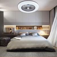 LED вентилатор с дистанционно 67W+33W 220V 3000K/4500K/6500K бял Ф600мм, APP и bluetooth Lightex
