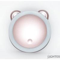 LED светещо огледало 0.5W с външна батерия 5V 3000K/4000K/6000K 3000mAh розовo Lightex