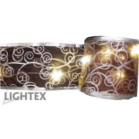 LED гирлянд 5м. 50LED 1.7W топло бял  IP44 230V Lightex