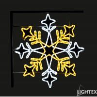 LED Влагозащитена снежинка за стълб 324LED 28W 70x70см. топло бяло + студено бяло IP65 220V Lightex