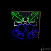 LED Влагозащитени камбанки за стълб 315LED 28W 70x70см.синьо + зелено + студено бяло  IP65 220V Lightex