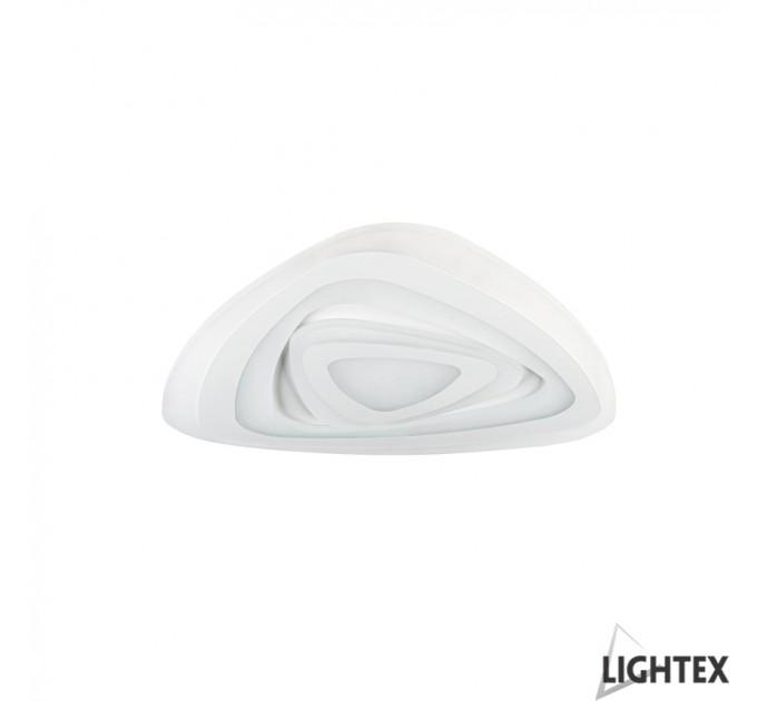 LED Плафон TURN II бял с дистанционно max76W 220V 3000K/4000K/6500K Ф470мм Lightex