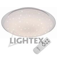 LED Плафон STAR димируем с дистанционно 60W IP20 от 3000К до 6500К Ф570 Lightex