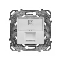 Schneider Unica механизъм компютърна розетка 1xRG45-UTP cat5E бяла MGU50.411.18Z