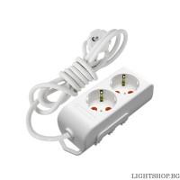 Ri-tech Разклонител 2 гнезда 2м. кабел 3X1.5mm с детска защита Mutlusan