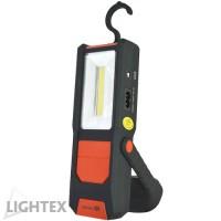 LED ръчна лампа COB 1+2W  с магнит и батерия 1200mAh
