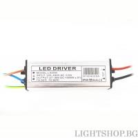 Led драйвър 20W 26-38V 450mA IP65
