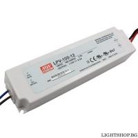 LED драйвър 100W 12V 0-8.5A IP67 MEAN WELL