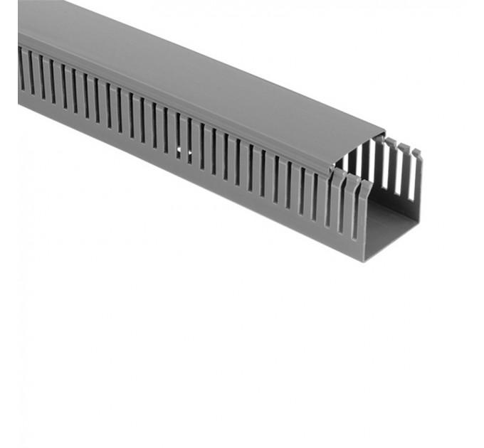 Кабелен  Канал 60x60 сив перфориран 2 метра  Lightex