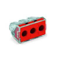 Клема разклонителана 3х2,5-6мм 41A за твърд проводник червена 773-173 WAGO