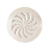 Вентилационна решетка CLASSIC T95 кръгла ф100 бяла с мрежа и жалузи PVC AWENTA