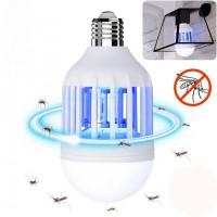 LED лампа против комари 2в1 9W E27 6500K 550lm 220V Lightex