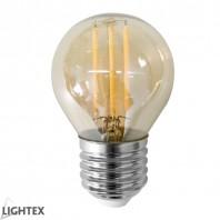 Led лампа FILAMENT 4W 220V E27 G45 Gold 2200K Lightex