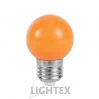 LED лампа  оранжева 1W 220V P45 E27  Lightex