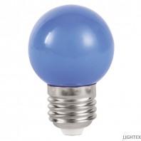 LED лампа  синя 3W 220V P45 E27  Lightex