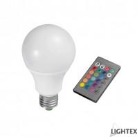 LED лампа 7W A70 E27 RGB+3000K IP44 с дистанционно Lightex