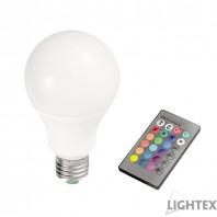 LED лампа 10W A70 RGB+3000K IP44 с дистанционно Lightex