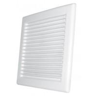 Вентилационна решетка правоъгълна DL/140х210 RW бяла с мрежа PVC 007-0161 DOSPEL