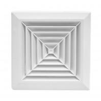 Вентилационна решетка квадратна KKS Ф125 бяла с мрежа PVC 007-0430 DOSPEL