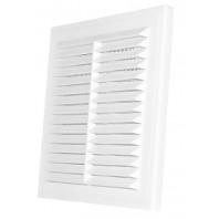 Вентилационна решетка квадратна D/150x150 RW бяла с мрежа PVC 007-0170 DOSPEL
