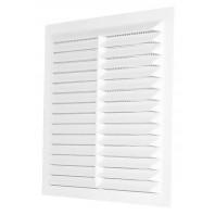 Вентилационна решетка квадратна D/140x140 W бяла с мрежа PVC  007-0169 DOSPEL