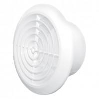 Вентилационна решетка кръгла KOS Ф100 бяла с мрежа PVC 007-0426 DOSPEL