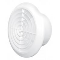 Вентилационна решетка кръгла KOS Ф125 бяла с мрежа PVC 007-0427 DOSPEL