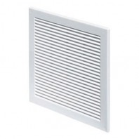 Вентилационна решетка TRU TRU2 квадратна 150х150 бяла с мрежа PVC AWENTA