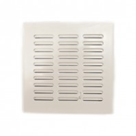 Вентилационна решетка EKO T04 140x140 бяла с жалузи PVC AWENTA